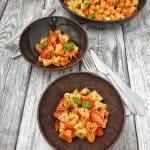 Ein einfaches Rezept für vegetarische, herzige Pasta für den Valentinstag