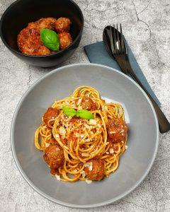 Spaghetti mit Hackfleischbällchen, schnell, lecker und einfach