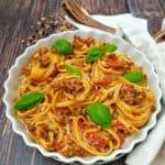 Spaghetti Auflauf mit Hackfleisch