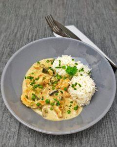 Hähnchengeschnetzeltes mit Reis